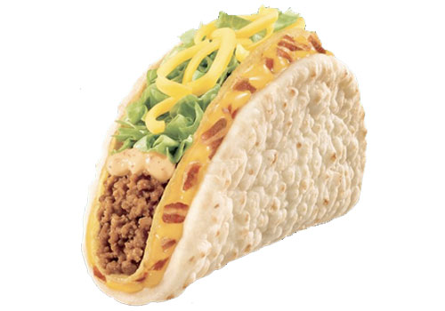 A Taco Bell Nacho Cheese Chalupa. Just add beans and a bullet. (Image from tacobell.com)